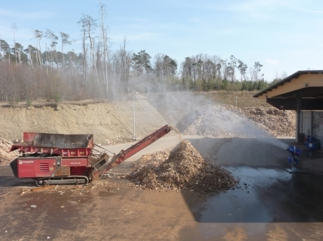 wood recycling dust suppression