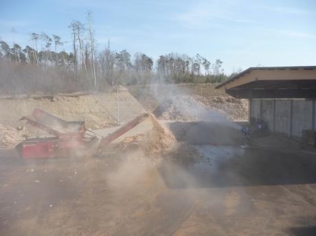 wood handling dust suppression