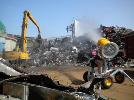 abbattimento polveri riciclaggio rifiuti