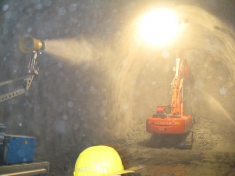 dust suppression in tunnel