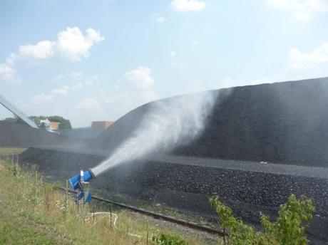abbattimento polveri in parchi carbone